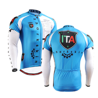 2016 Basic Cycling Jackets Cross Country Race Team Wear Clothes For Biking Riding Blue Color Size