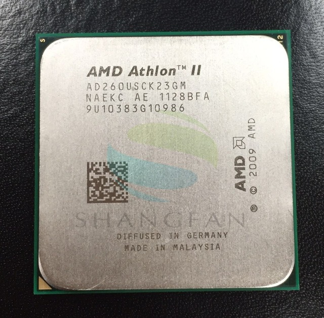 Free shipping for X2 260u AD260USCK23GM  3.4GHz Dual-Core CPU Processor AD260USCK23GQ Socket AM3 938pin