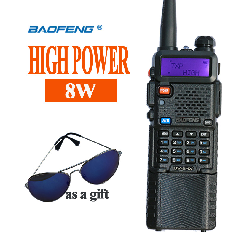 durable Portable Radio Baofeng 5R 8W UV5R Radio station Walkie Talkie VHF UHF uv xr walkie