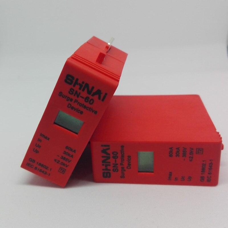 30KA-60KA  Surge Arrester Protection Device Electric Surge Protector D ~385V AC Replace Module Parts For SPD