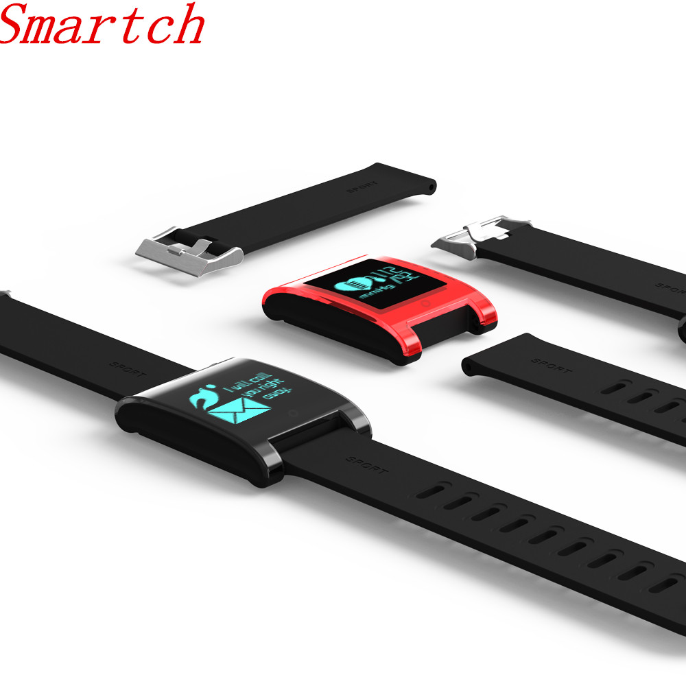 Smartch DM68 Smart Band Passometer Wristband Fitness Tracker Blood Pressure Heart Rate Monitor Bluetooth Bracelet For