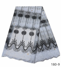 Milk Silk Nigerian French Net Lace Fabric Embroidered Stones African Lace Fabric High Quality Dubai Guipure Mesh Lace 5 Yards shabby chic car decorative cushion cover retro truck mini bus game chair pillow cover 45cm pillow case home decor sofa bedding
