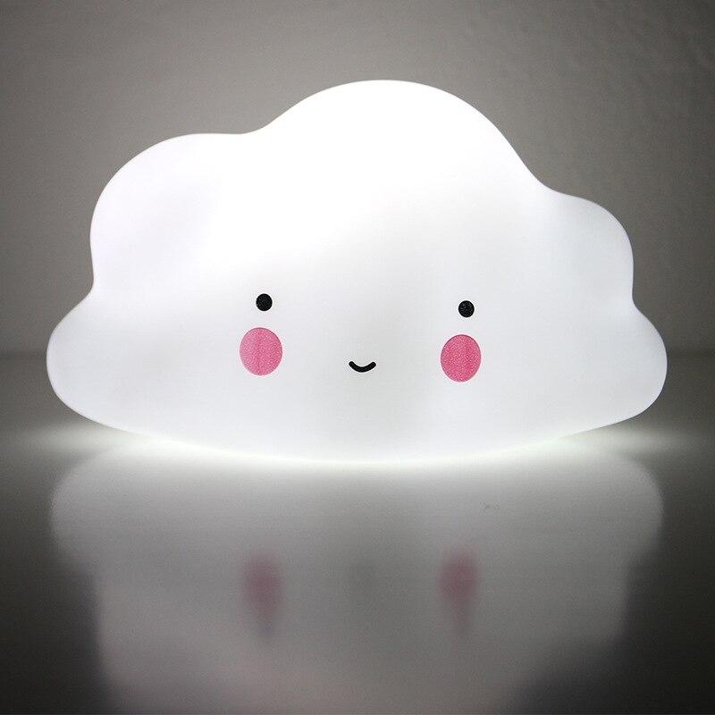 SVELTA Creative Gifts Cloud Moon Lamp LED Night Light Home Decor Battery Night Lamp Decoration For Children Bedroom Living Room