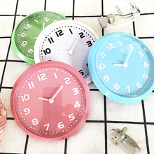 Free Shipping Round Small Digital Kitchen Fridge Magnet Wall Clocks In Simple Quartz Clocks By Blue/Green/Pink/White Color