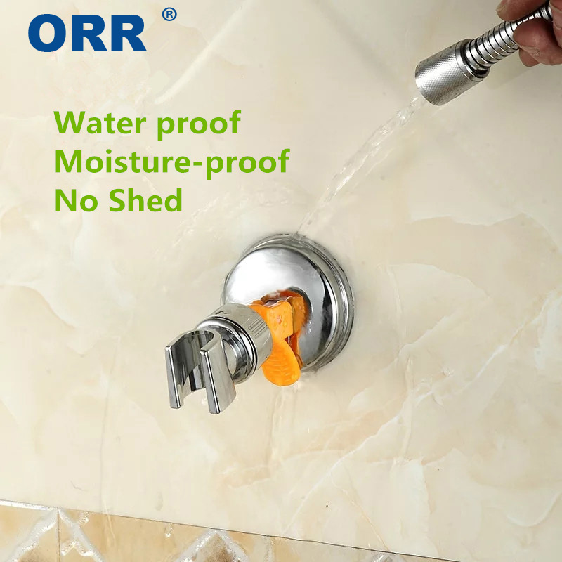 360 rotation Shower Holder Suction Cup free of punch Bathroom Accessories Adjustable Mount bracket ORR