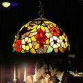 FUMAT витражный подвесной светильник ручной работы  винтажный стеклянный абажур  подвесной светильник для бара  ресторана  лампы для кухни  го...