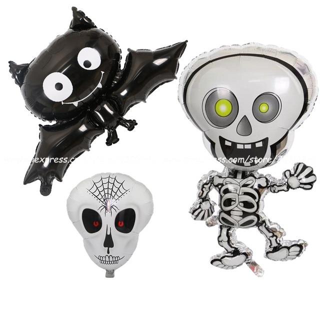 1 unids/lote nuevo 88*60 cm negro murciélago Halloween papel Globo y ...