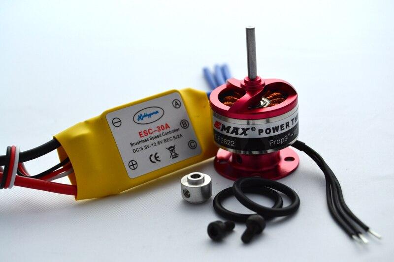 30A Brushless ESC Speed Controller EMAX 1200KV Brushless Motor w Prop Saver