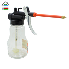 New 250cc High Pressure Llubricating Oil Pot Machine Oiler Bottle Manual Oiling Tools Plastic Shell Oil Grease Guns
