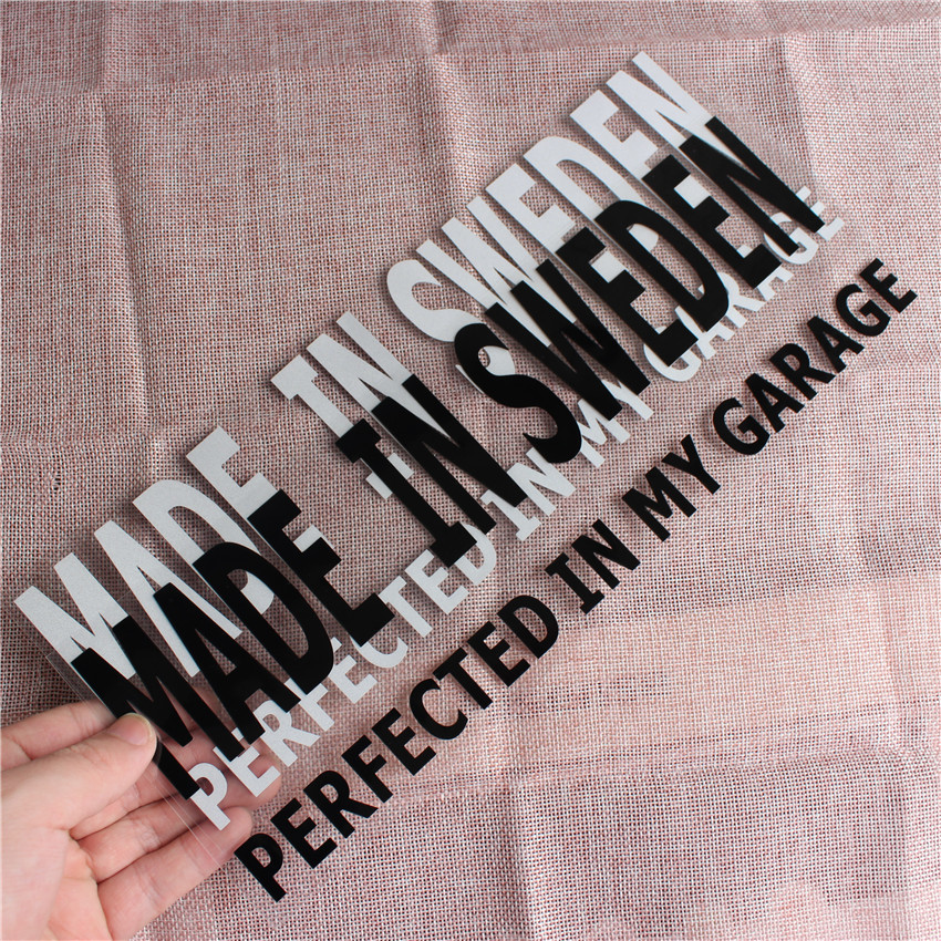 New Made in Sweden perfect in garage Car Stickers PVC Decal <font><b>Styling</b></font> For <font><b>Volvo</b></font> R Design C70 C30 V70 V60 <font><b>V50</b></font> V40 S40 S60 XC90 image