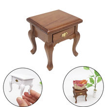 1/12 Mini Dollhouse Furniture Cabinet Miniature Living RoomTable Kids Toy Doll House Bedroom Accessories Simulation Toy D9#(China)