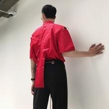 XXS-6XL!!Self-made new products back cross layer design for short sleeve shirt summer man.