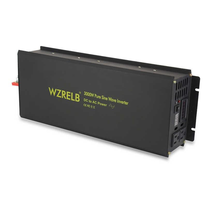 3000 W Solar Power Inverter 12 V 230 V czysta sinusoida przetwornica 12 V/24 V/36 V DC do 120 V/220 V/240 V AC konwerter napięcia zdalnego sterowania
