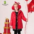 KAMIWA 2016 Капюшоном Детские Девушки Хлопка мягкой Куртки Зимний Свет Парки Теплое Пальто Бренд Детской Одежды детская Одежда