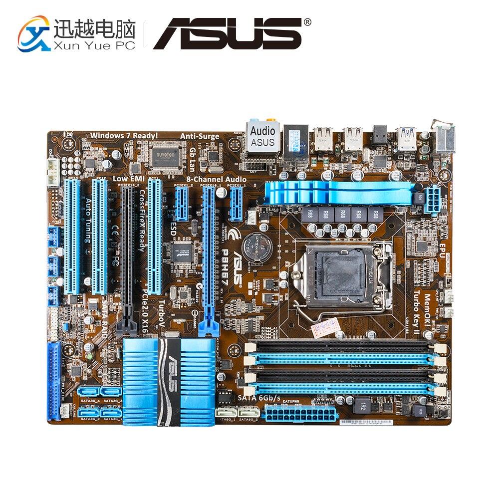 Asus P8H67 Desktop Motherboard H67 Socket LGA 1155 i3 i5 i7 DDR3 32G ATX aqa baby средство для мытья 500 мл для бутылочек сосок и детской посуды