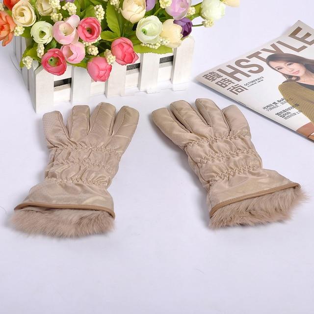Rabbit fur gloves acrylic gloves wool gloves ski gloves pt9411