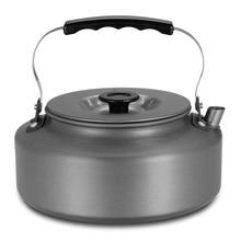 1.6L Portable bouilloire Pot deau théière cafetière intérieur sifflement en alliage daluminium thé bouilloire en plein air Camping randonnée pique nique Pot