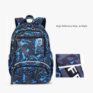 Image 5 - Fengdong grand sac à dos étanche pour enfants, ensemble de 3 pièces de sacs de lycée pour garçons, sac à bandoulière pour étudiants, stylo porte crayon