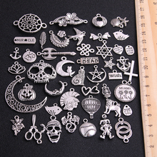 20pcs Vintage Metal 3 Color Mix Size Random 20-200 Style Charms Pendant for Jewelry Making Diy Handmade