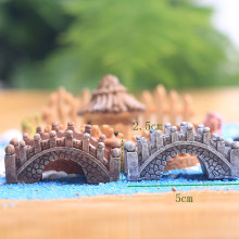 Hot Stone Bridge Figurines Mini Resin Crafts Fairy Garden Miniatures DIY Terrarium/ Succulents/ Micro Landscape Decoration(China)