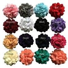 """60 шт./лот """" рюшами Фетр волосы цветок, Детские Ткань цветок для Банданы для мужчин, Зажимы, Костюмы"""