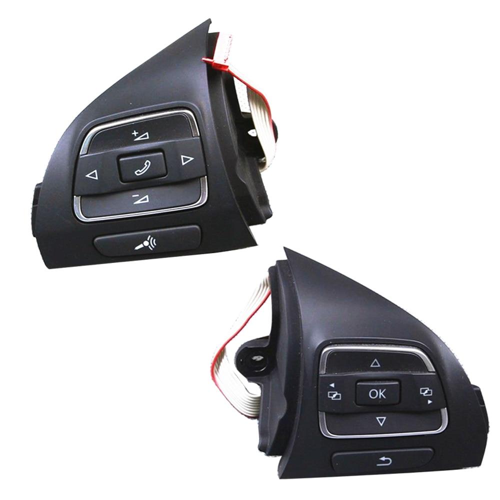 OEM Paire 5C0959537A 5C0959538B steering wheel Multifunction Button Pour VW Touran Golf Jetta MK6 Tiguan EOS