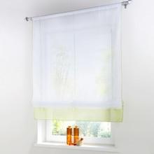 Nuevo estilo Europeo organza tulle empalme romano cortina cortinas de rodillo para ventana del balcón cortina de ventana y cortina de la cocina