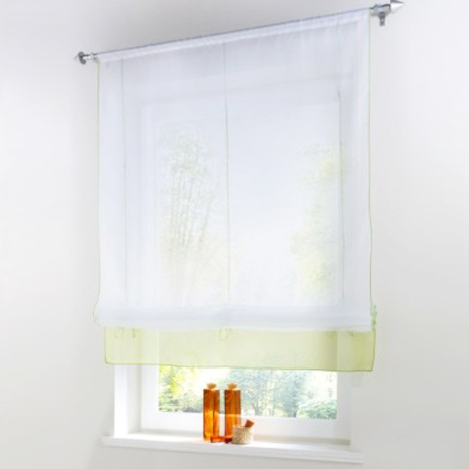 New European Style Organza Tulle Window Curtain Piecing Roman Roller Curtains For Balcony And