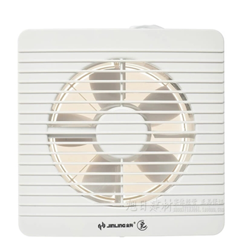 White wall mounted window glass small fan extractor ...