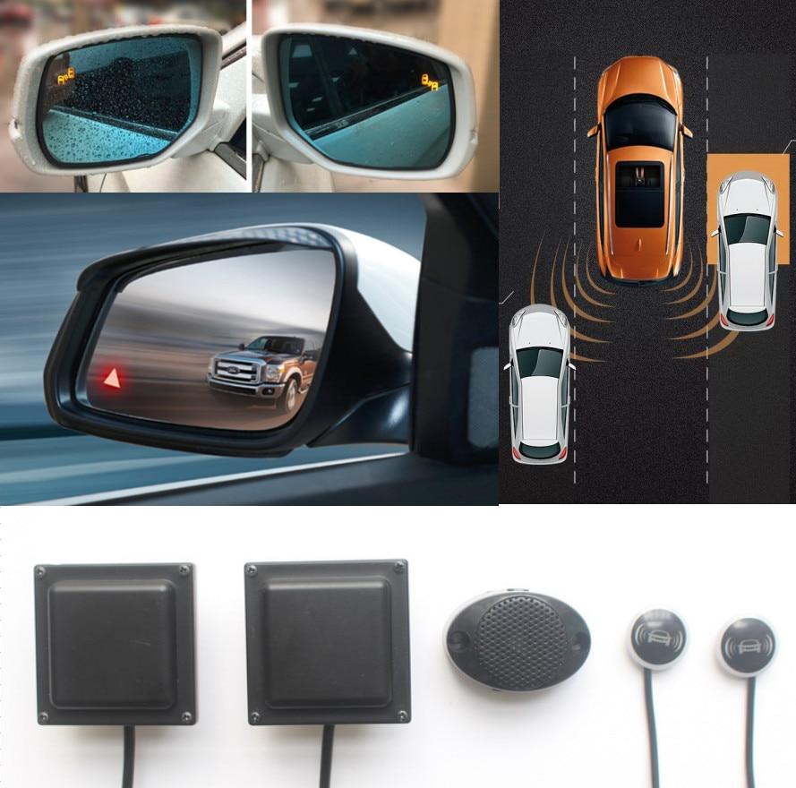 Car Pickup BSD BSM Blind Spot Detection System 24GHZ Microwave Radar Sensor BSA Auto Monitoring Mirror Light Alarm