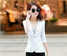 Fashion Korean Type Women Female Seven Sleeve Summer Wear Slim Leisure OL Elegant Coats Jackets
