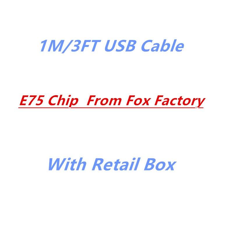 imágenes para 100 unids, FULCOL AAAAA + De la Fábrica 1 m/3FT E75 Chip de Datos OD 3.0mm Cable USB Para 5S 6 6 s 7 plus Con menor caja