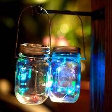 1pcs3pcs christmas party decor solar mason jar lid insert fairy light with led for glass jars christmas light for new year - Mason Jar Christmas Lights