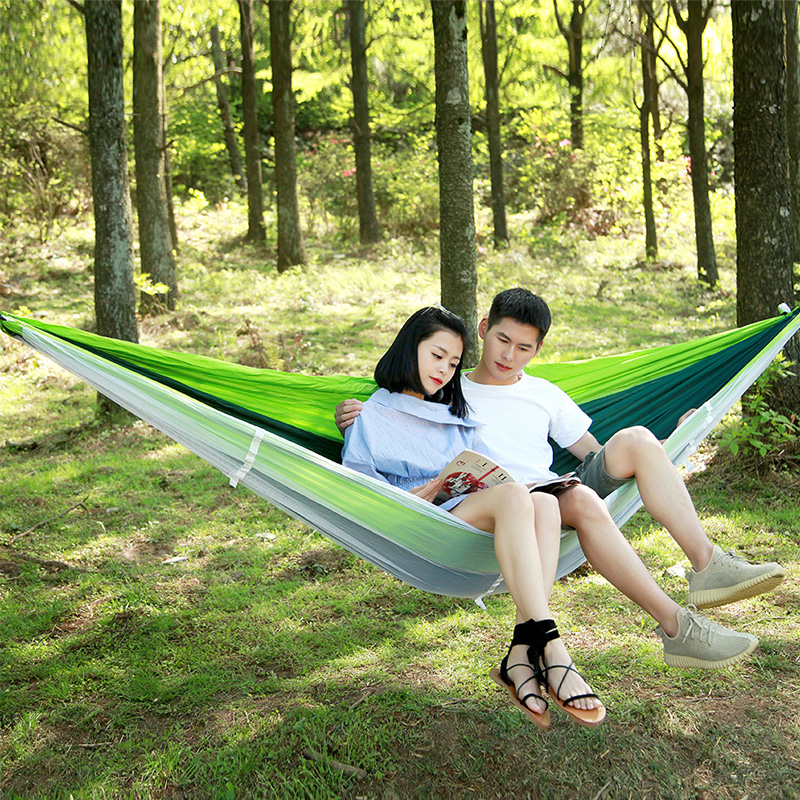 Norent Ultralight Folding Portable Hammock Outdoor Garden double bed Travel Camping Lazy bag Hunting Mosquito net Hanging bed