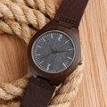 De Madeira De Bambu dos homens relógios de Pulso Com Pulseira de Couro Genuíno Relógio De Madeira De Luxo para Mulheres Dos Homens como Presentes Relogio Masculino