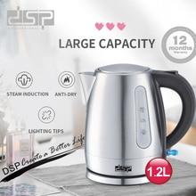 DSP1.2L Mini bouilloire électrique en acier inoxydable 1850W ménage bouilloire électrique thé Heater220V 240V
