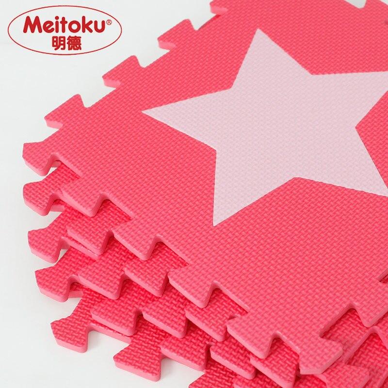 10pcslot-Meitoku-baby-EVA-foam-puzzle-play-mat-Interlocking-Exercise-floor-carpet-Tiles-Rug-for-kidsEach30cmX30cm-1cmThick-2