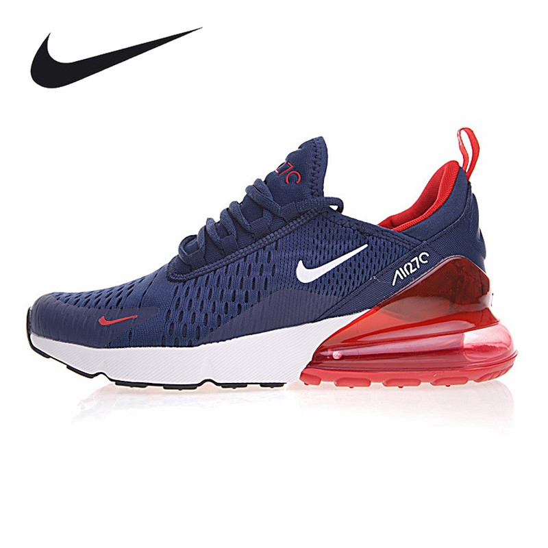 Nike Air Max 270 Men's Running Shoes, Dark Blue Grey, Breathable,Abrasion Resistant Lightweight AH8050-416 AH8050-003 очки nike optics run x2 s blue lagoon dark magnet grey lens