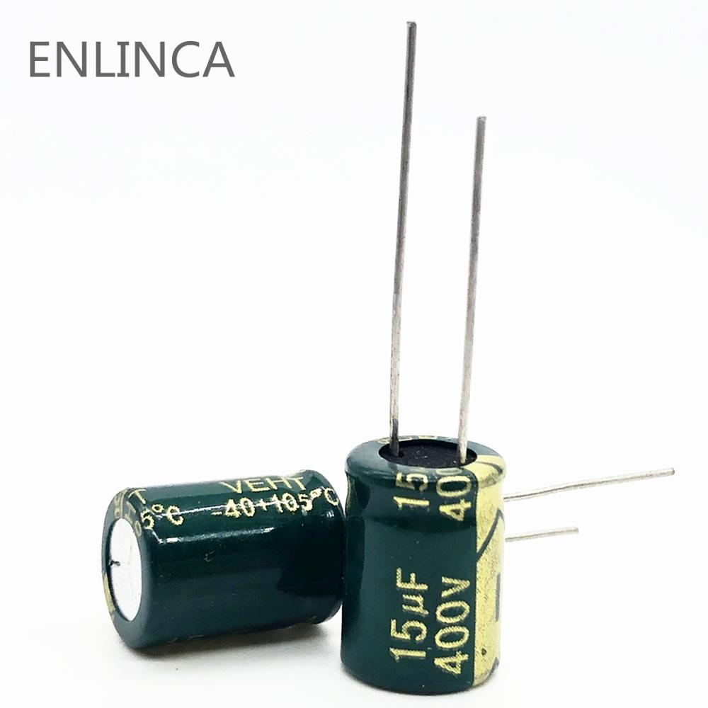 20pcs/lot 15UF High Frequency Low Impedance 400V 15UF Aluminum Electrolytic Capacitor Only Good Quality 20%