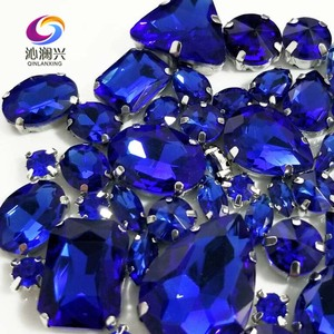 Image 3 - Sell at a loss!! 68pcs/pack Royalbblue mix size high quality glass crystal material sew on rhinestones,diy/Clothing accessorie