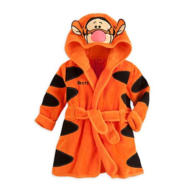 1 - 6 anos novas crianças vestes pijamas bebê dos desenhos animados menino roupão infantil meninas de banho de outono inverno de veludo crianças Homewear Sleepwear