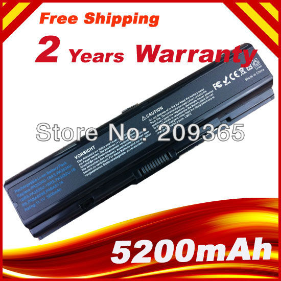 5200mAh 6Cells Laptop Battery for Toshiba Satellite A200 A205 A210 A215 L300 L450D L500 L505 A300 A500 PA3534U-1BAS PA3534U-1BRS цена и фото