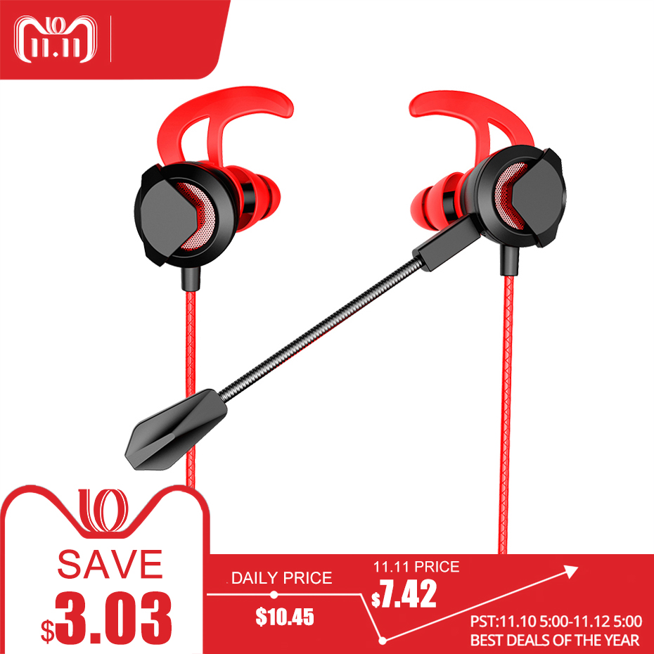 3.5mm Earphone Wired Gaming Headset Super Bass Sound Headphone Earbuds with Microphone for Laptop/ PS4/Xbox One oneodio earphone for phone gaming headset with microphone for xbox one gaming headset ps4 pc wired studio dj headphone monitor