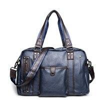 Casual Business Men Handbag High Quality PU Leather Shoulder Bags Men S Bag 14 Inches Laptop