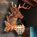 deer horn antler american stag antlers wall lamp fashion personality entrance deer wall lamp
