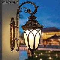 Винтажный наружный настенный светодиодный светильник Европа Светодиодные крыльцо огни водостойкие ржавчины алюминиевое освещение Бра На