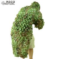ROCOTACTICAL Tactical Sniper Ghillie Suit Camouflage Hunting 3D US Army Ranger Ghillie Poncho For Airsoft Paintball