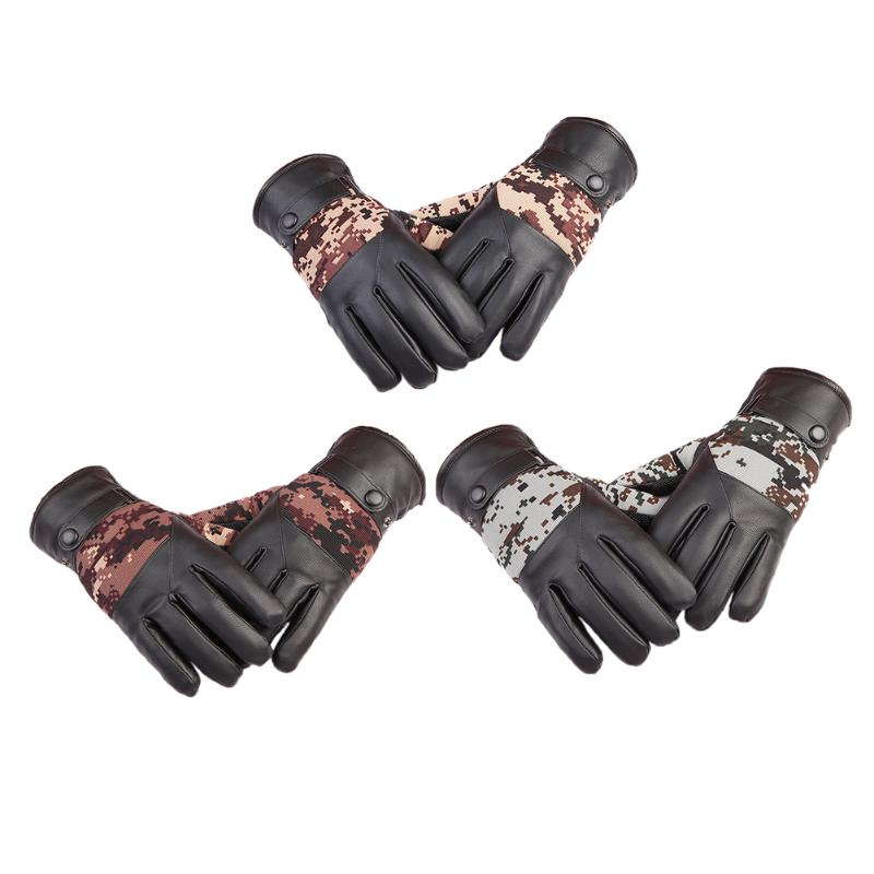 1 Pair Men Camouflage Fitness Full Finger Anti-slip Breathable Gloves Mountaineering Military Motorcycle Racing Bike Gloves New