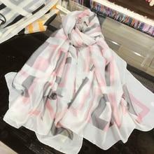New shawl classic simulation silk georgette satin soft long scarf fashion scarfs for ladies scarves women 2019