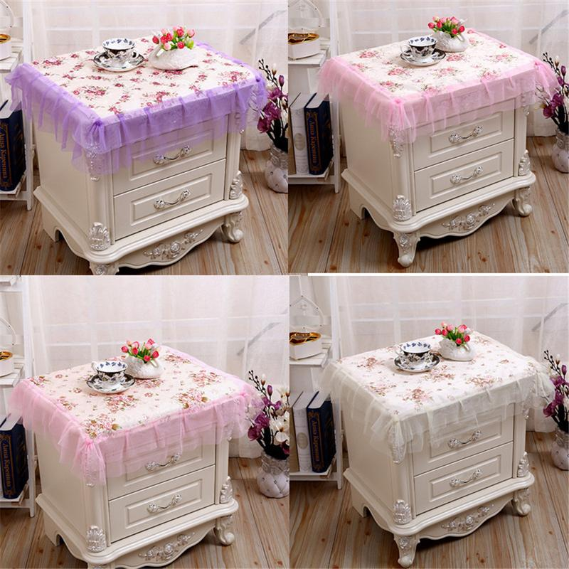 US 27 OFF Fabric Garden Bedside Table Cover Lace Flower Small Tablecloth Bedside Table Dust Cover In Clothing Covers From Home Garden On